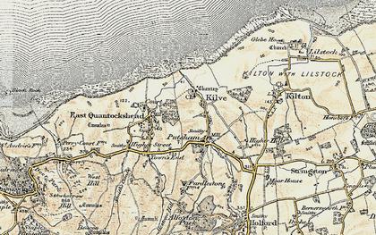 Old map of Kilve in 1898-1900