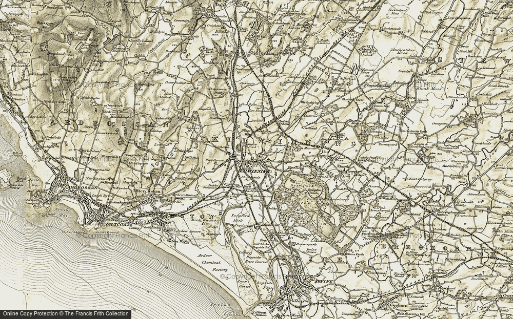 Old Map of Historic Map covering Bannoch in 1905-1906