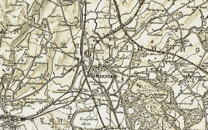 Old map of Kilwinning in 1905-1906
