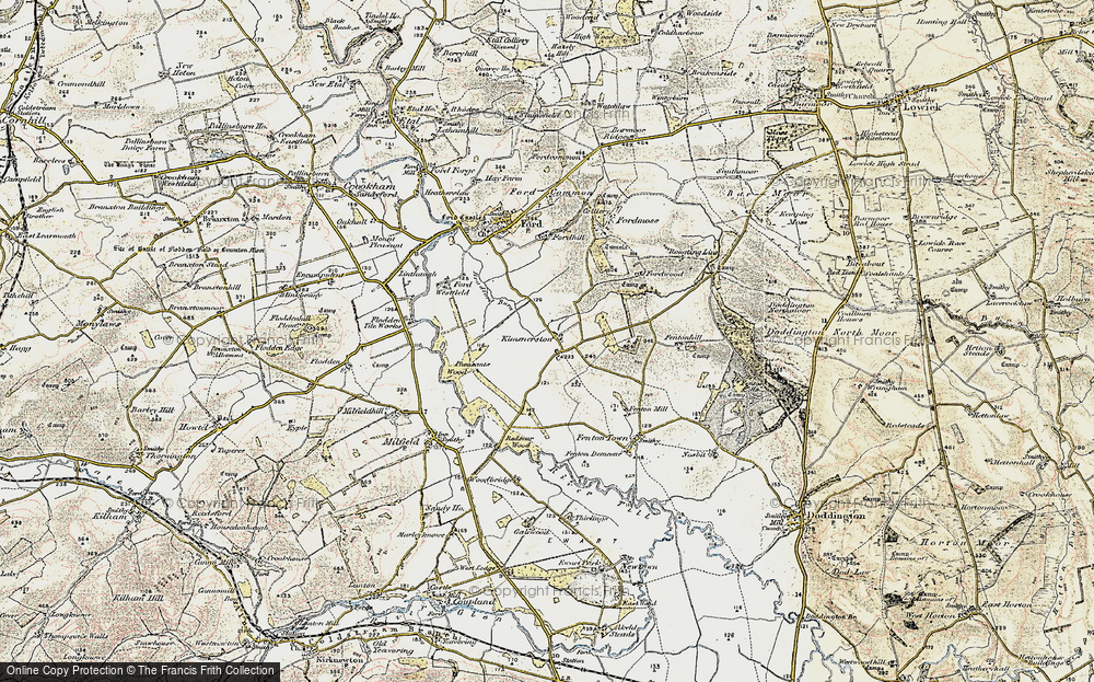 Old Map of Historic Map covering White Hill in 1901-1903