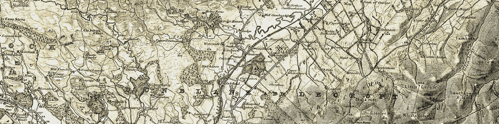 Old map of Wester Cambushinnie in 1904-1907