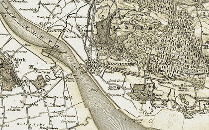 Old map of Kincardine in 1904-1906