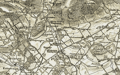 Old map of Woodhead in 1908-1909