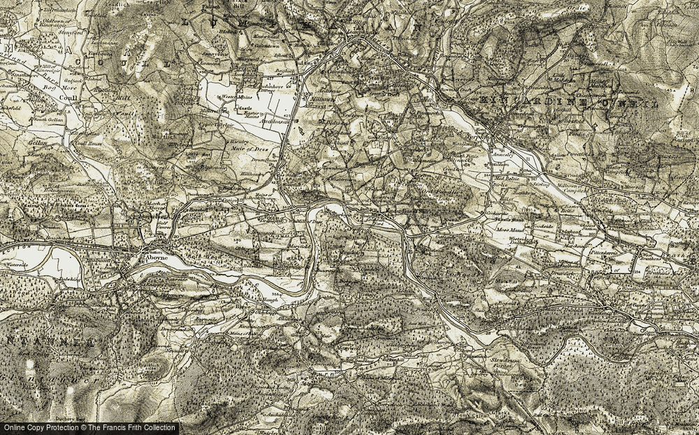 Old Map of Historic Map covering Westerton in 1908-1909