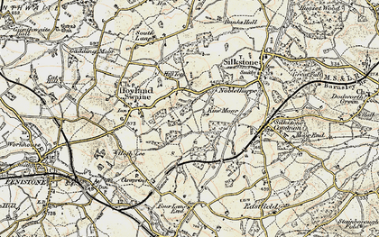 Old map of Kine Moor in 1903