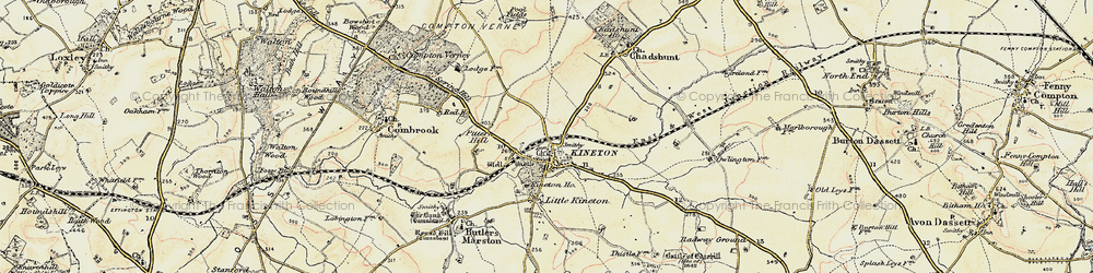 Old map of Kineton in 1898-1901