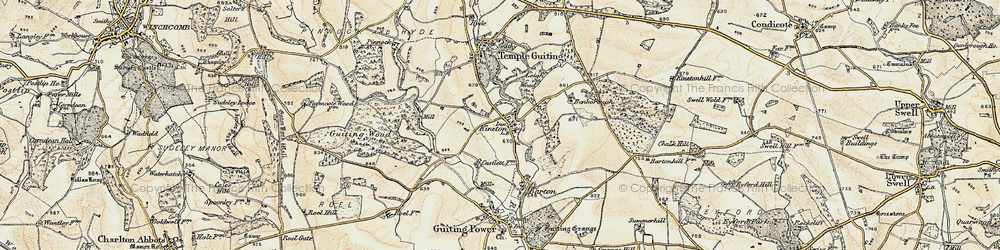 Old map of Leigh Wood in 1899