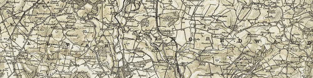 Old map of Westfield in 1909-1910