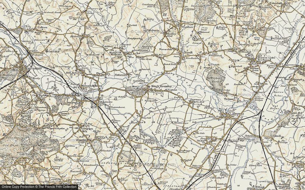 Old Map of Historic Map covering Woodgate in 1902