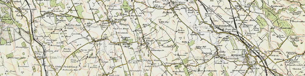 Old map of Wickerfield in 1901-1904