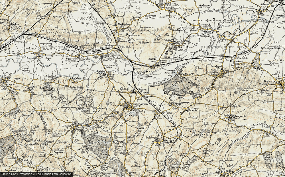 Old Map of King's Newton, 1902-1903 in 1902-1903