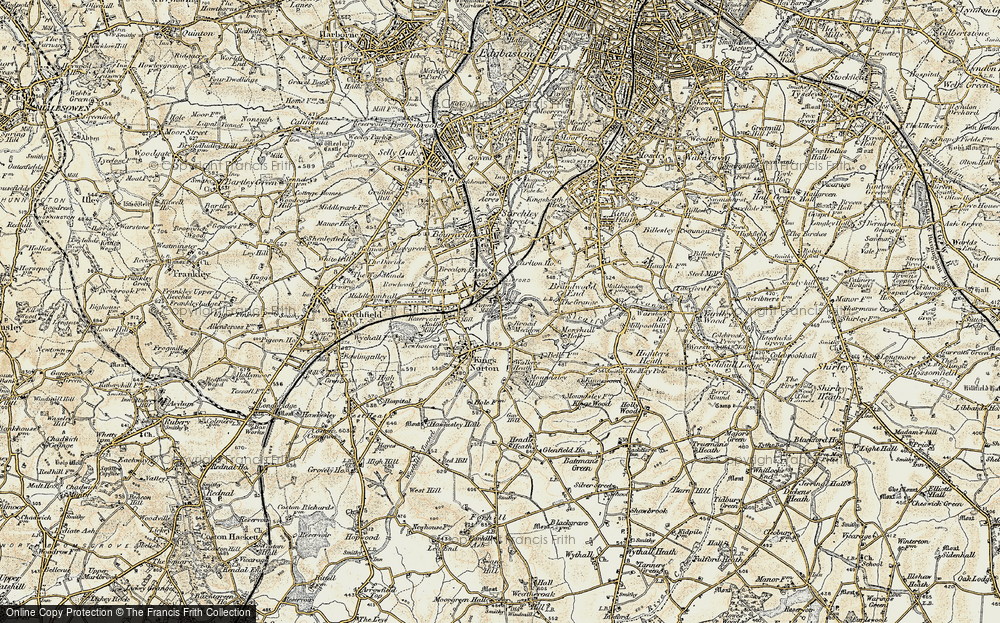 Old Map of King's Norton, 1901-1902 in 1901-1902