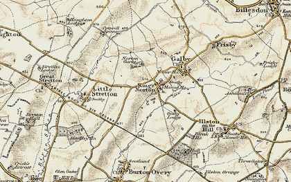 Old map of King's Norton in 1901-1903