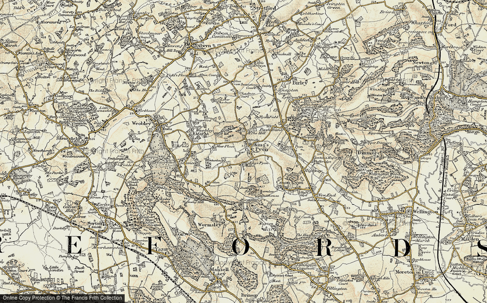 Old Map of Historic Map covering Wootton in 1900-1901