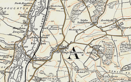 Old map of Yew Hill in 1897-1900