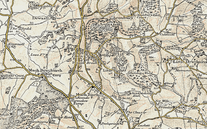 Old map of Aconbury Hill in 1900