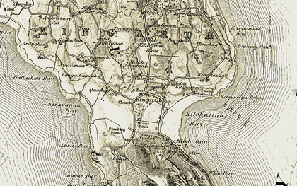 Old map of Largizean in 1906