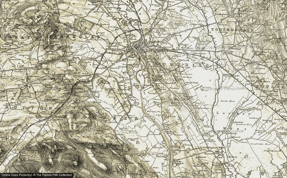 Old Map of Historic Map covering Acrehead in 1901-1905