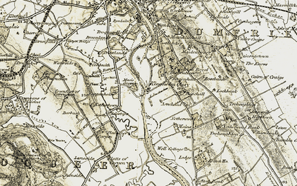Old map of Acrehead in 1901-1905