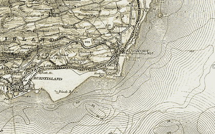 Old map of Kinghorn in 1903-1906