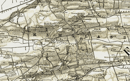 Old map of Whinnyhall in 1903-1908