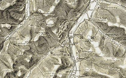 Old map of Glenlood Hill in 1904