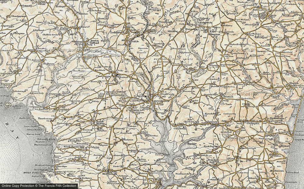 Old Map of Kingsbridge, 1899 in 1899