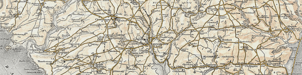 Old map of Kingsbridge in 1899