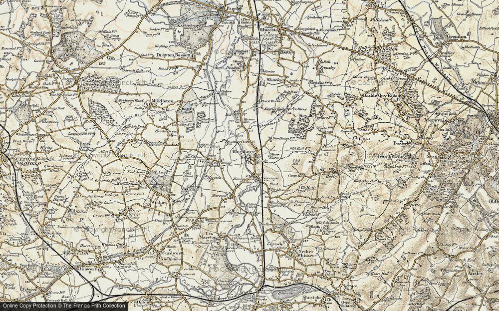 Old Map of Kingsbury, 1901-1902 in 1901-1902