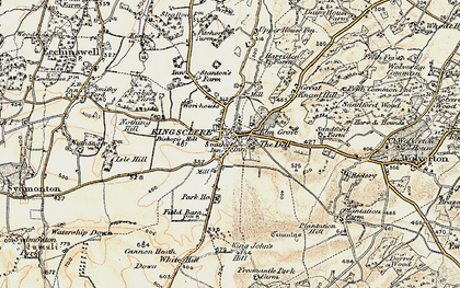 Old map of Kingsclere in 1897-1900