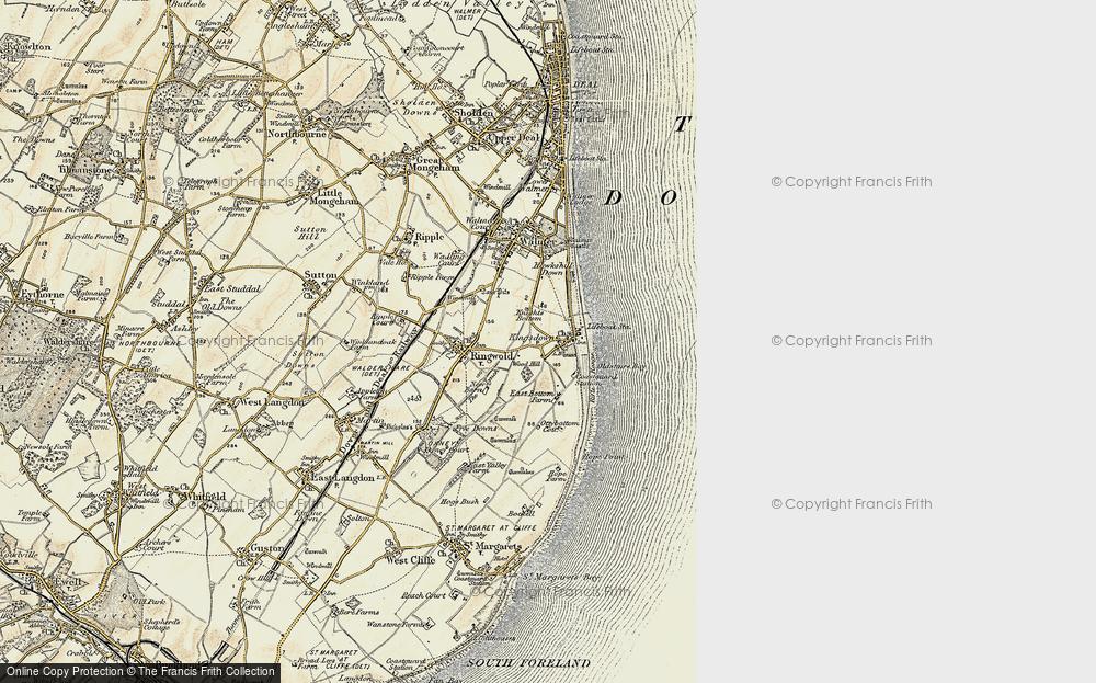 Old Map of Kingsdown, 1898-1899 in 1898-1899