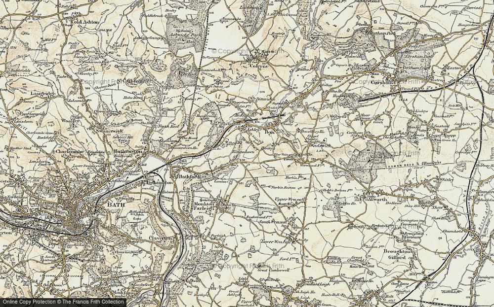 Old Map of Kingsdown, 1899 in 1899