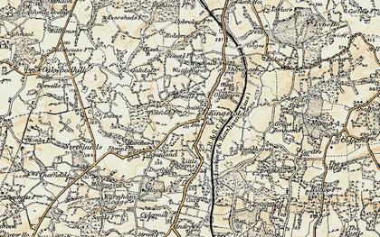 Old map of Langhurst in 1898-1909