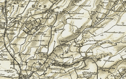 Old map of West Whitelee in 1905-1906