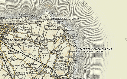 Old map of White Ness in 1898-1899