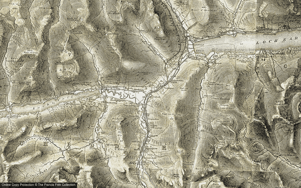 Old Map of Historic Map covering Balquhidder Station in 1906-1907