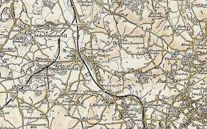 Old map of Kingskerswell in 1899