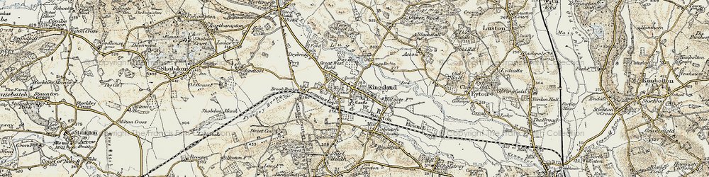 Old map of Kingsland in 1900-1903
