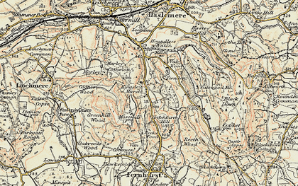 Old map of Whitehanger in 1897-1900