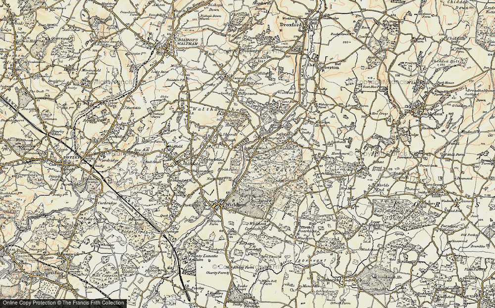 Old Map of Historic Map covering Woodend in 1897-1899