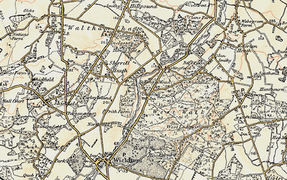 Old map of West Walk in 1897-1899