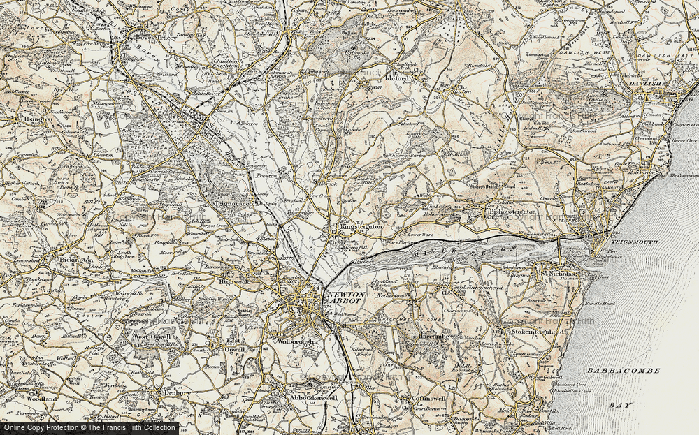 Old Map of Historic Map covering Lindridge Hill in 1899