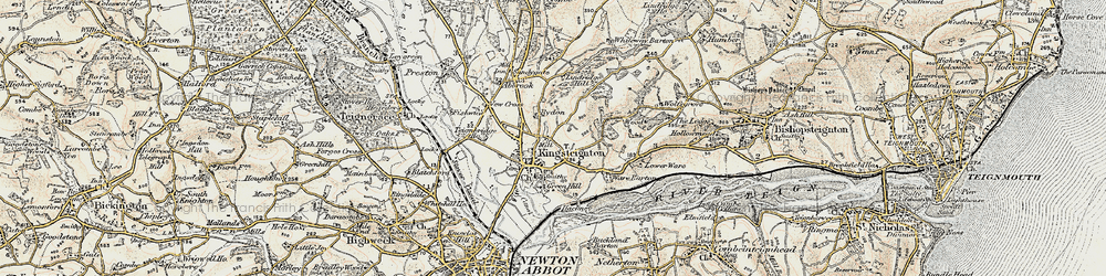 Old map of Lindridge Hill in 1899