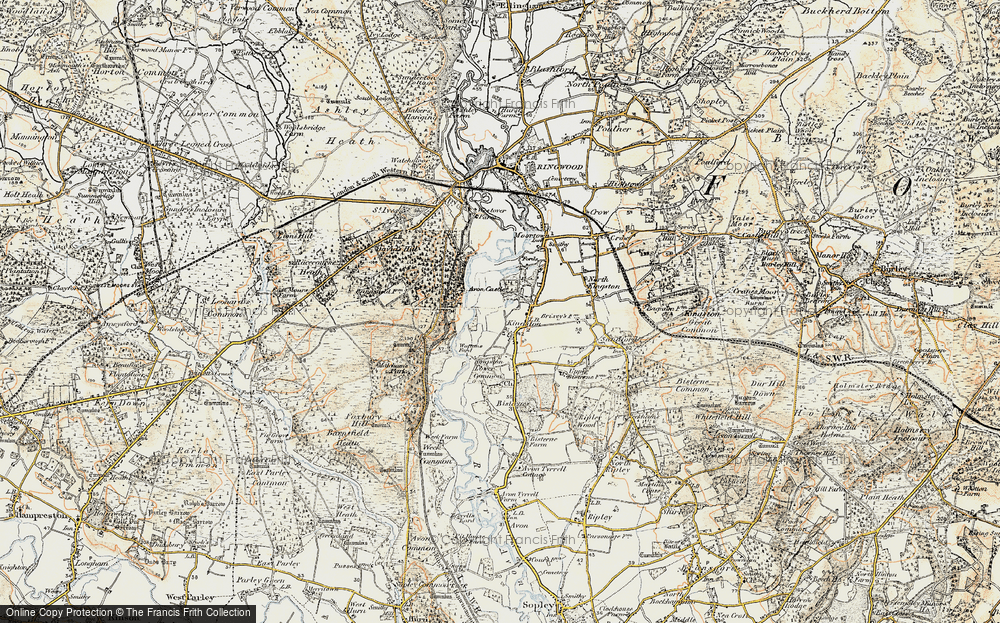 Old Map of Historic Map covering Leybrook Common in 1897-1909