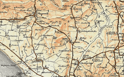 Old map of Kingston in 1899-1909