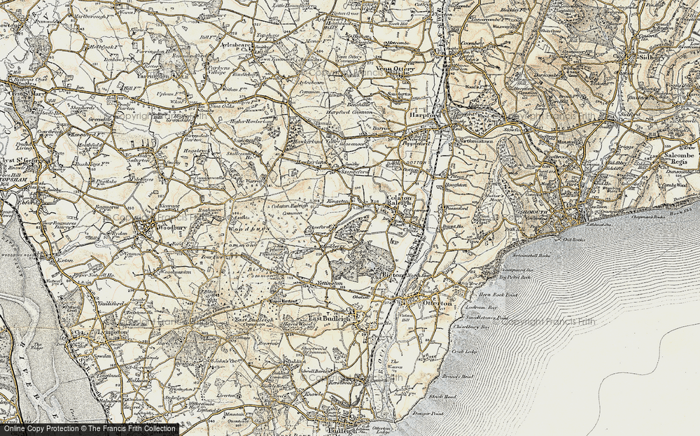 Old Map of Historic Map covering Baker's Brake in 1899