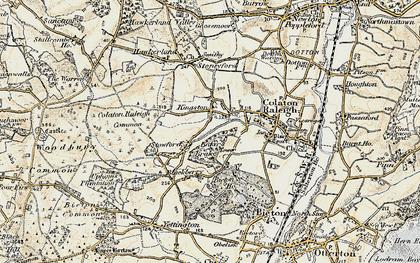 Old map of Baker's Brake in 1899
