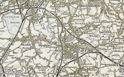 Old map of Hyde in 1903