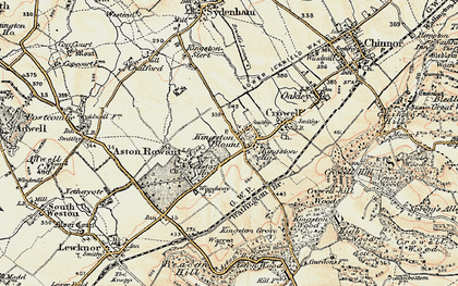 Old map of Aston Wood in 1897-1898