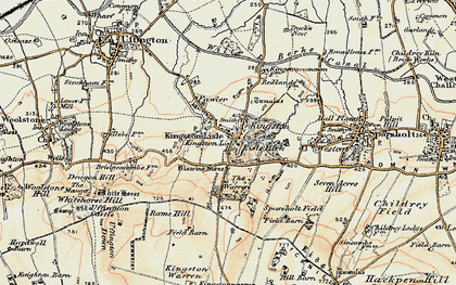 Old map of Kingston Lisle in 1897-1899